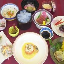 季節の野菜を多く取り入れた<レディースプラン会席>(写真はイメージ)