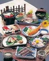 寿司御膳はジャンボエビフライ付き