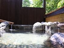 森の中の貸切露天風呂♪
