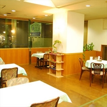 お食事は姉妹館のホテルソシアにて(当ホテルより徒歩2分)