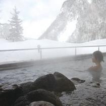 天華の湯【冬】 雪見の露天風呂