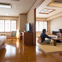 【雪ほたる・和洋室50平米】ご夫婦や女性同士のご旅行に人気です。