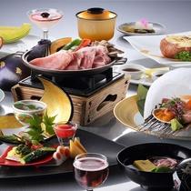 【2016夏・雪ほたる】強肴は上川産味豚、または帆立と海老の陶板焼き