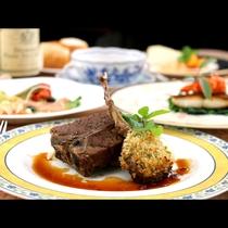 【夕食一例】リピーターに人気!!ラム肉の香草パン粉焼き