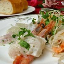 *【夕食一例】甘えびとホタテのタルタルソース