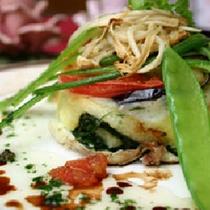*【夕食一例】白身魚とほたてのムースのタンバル