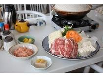 鴨鍋用の食材