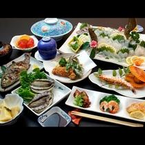 あわび付の海鮮料理