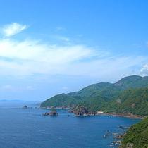 熊本の天草西海岸、東シナ海を一望