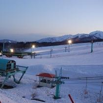 スキー場夕暮れ