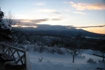 テラスから見える冬景色