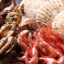 海鮮会席の食材の一例