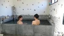 御影石で造った石風呂