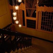 ■夜の階段ランプ