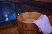お風呂桶と温泉