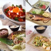 *[お食事一例]ご夕食には沖縄料理の定食などをご用意致します。