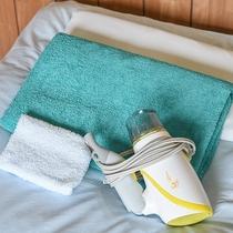 *[お部屋のアメニティ]タオルセット・ドライヤーはお部屋にご用意しております。