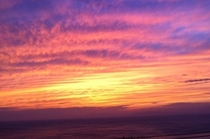 ほんとにきれいな夕陽!