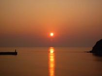 香住の夕日