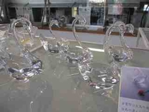 ガラス作品「白鳥」