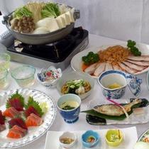 *【夕食一例】信州サーモンや鍋料理等、季節の特別御膳もご用意致します!