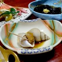 【夕食一例】日本海の荒波でそだった絶品の海の幸を存分に召し上がれ♪