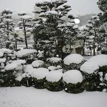 【日本庭園】冬は美しい雪景色をご覧いただけます。