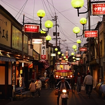 昭和にタイムスリップしたかのような豊後高田の街並み。