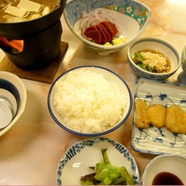【夕食(一例)】