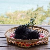 *【夕食別注料理】壱岐ならではの新鮮な生ウニに舌鼓