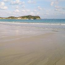 【宿周辺の景色】波打ち際をのんびり散歩してみては?