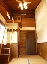 屋根裏部屋付和室