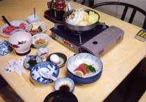 夕食(米沢牛すき焼)