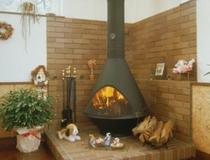 暖炉アップ