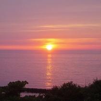 <周辺・景観>日本海に沈む美しい夕陽