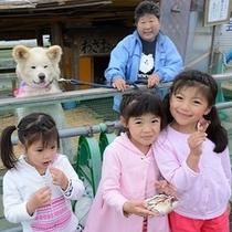 <周辺・景観>鰺ヶ沢人気犬「わさお」