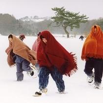 <周辺・景観>五所川原金木地区雪国地吹雪体験