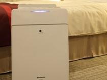 加湿機能付き空気清浄機は全室完備!