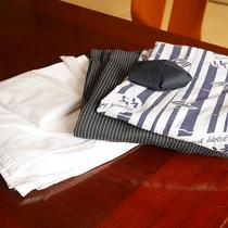 *アメニティ一例/タオル、浴衣、歯磨きセットなどアメニティご用意しております。