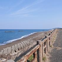 *鵜の浜海岸/当館より徒歩1分、すぐ目の前に広がる海。のんびりお散歩してみませんか?