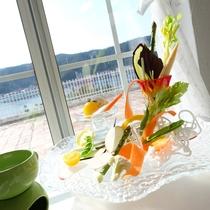 (ご夕食一例)自家製菜園で採れた野菜を使用!バーニャカウダー