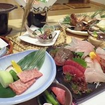 *【夕食例】新鮮な海の幸をしっかり味わえるお食事です。