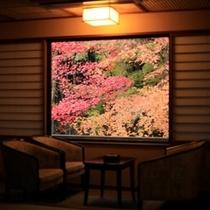 客室からみる風景は、まるで切り抜いた画のよう。