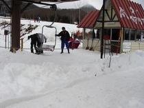スキー場 大1リフト乗り場