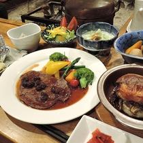 *【夕食一例】会津の郷土料理や炉端料理(和定食)をお楽しみ下さい。