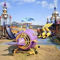 休日の天気がいい日には子供さんが楽しそうに遊んでいます
