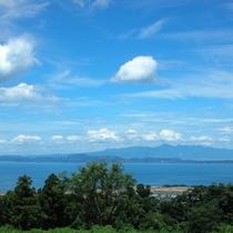 青い空と青い海が爽快♪