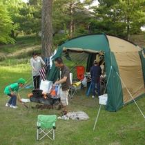 夏には多くの人でにぎわうキャンプ場♪日帰りのご利用も可能!