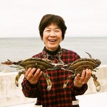 冬の松葉蟹から旬はワタリガニへと