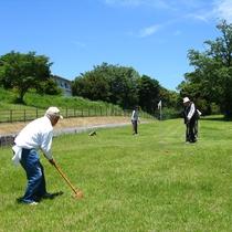 長崎県グランドゴルフ協会認定コースは林間と芝の2コースあります。